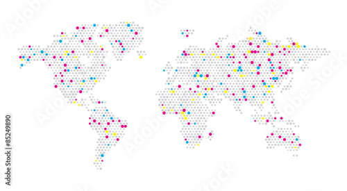 World map dots random size gray color eps 10 stock image and world map dots random size gray color eps 10 publicscrutiny Gallery