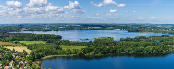 Panorama Luftbild-See in Schleswig Holstein