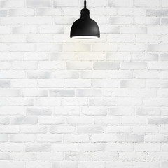 bulb on white wall