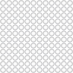 Seamless pattern whit gray circles on a white background