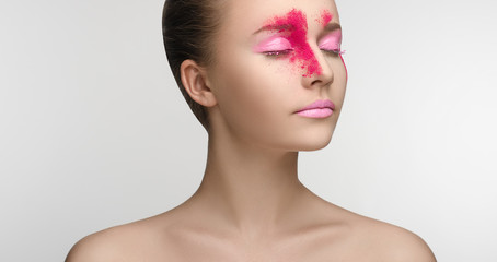 Pink Makeup Beauty Girl