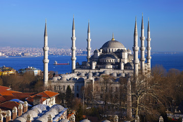 Sultan Ahmed Mosque in Istanbul city.