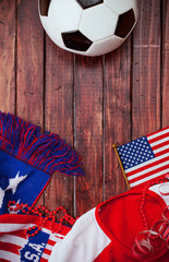 Soccer: Patriotic United States Background With Scarf