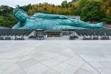 The Reclining Buddha of Nanzoin Temple in Fukuoka, Japan