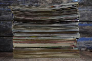 Big stack of old magazines