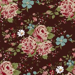 wallpaper seamless vintage pink flower pattern.