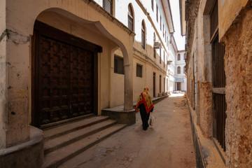 Poster Zanzibar stonetown zanzibar alleyway pedestrian