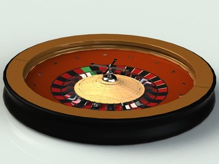 Roulette is a casino with a scoop, wooden insert nickel details