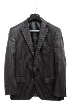 black jacket on hanger