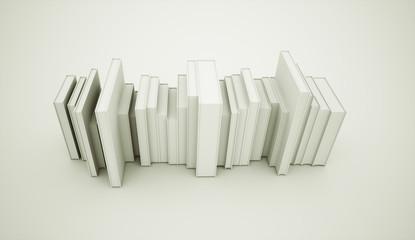 Black and white books concept