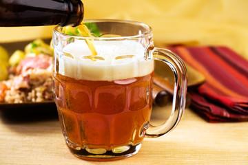 Oktoberfest Season! Pouring Amber Lager
