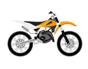 motocross motorcycle orange