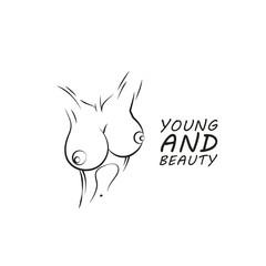 Youth, health and beauty, Vector logo