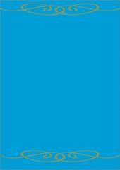 Hellblauer Hintergrund mit grünem Schnörkel