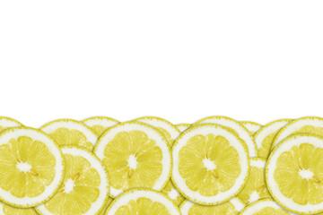 Pattern of yellow lemon slices