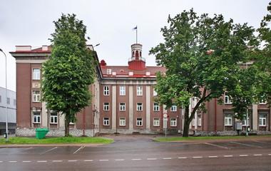 Town hall in Johvi. Estonia