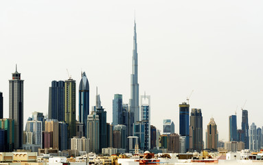 Dubai World Trade center and Burj Khalifa