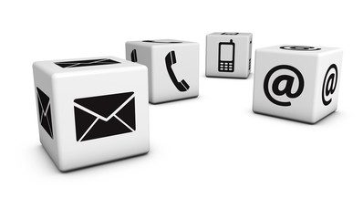 Contact Us Icons Cubes