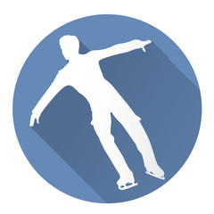 Figure skater icon