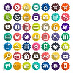 Icon shopping vector set