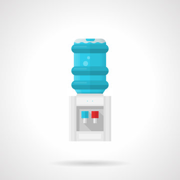 Electric water cooler flat vector icon