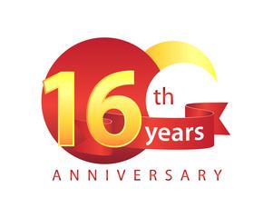 16 Years Anniversary Logo