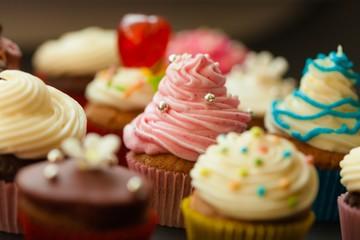 Cupcake, Candy, Multi Colored.