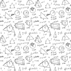 Hand drawn geometry formulas