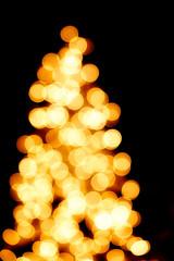Christmas Lights Blur, outdoors at night.