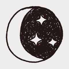moon star doodle