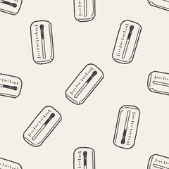 Thermometer doodle seamless pattern background