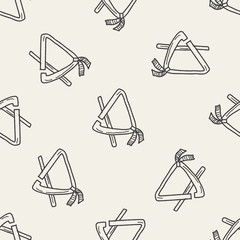 Triangle doodle seamless pattern background