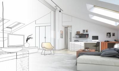 Dachwohnung (Entwurf)