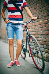 Guy with bike