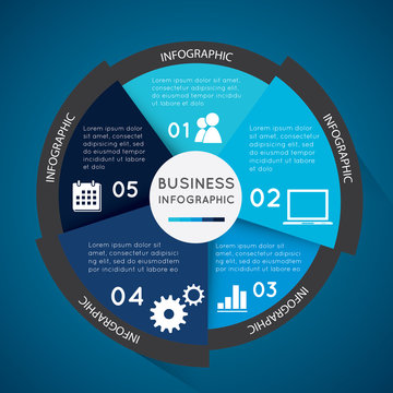 Business infographic circle