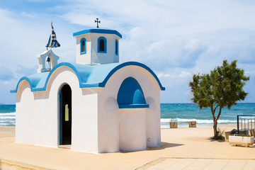 Small typical little church in greece