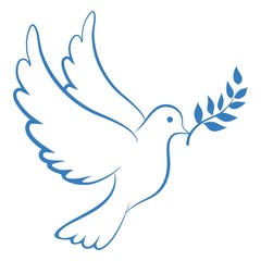 Peace Dove Blue