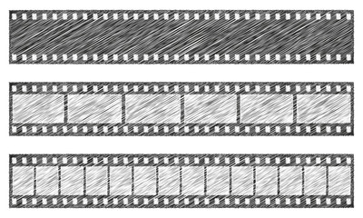 Scribble Sketch Grunge Filmstreifen | Vektor
