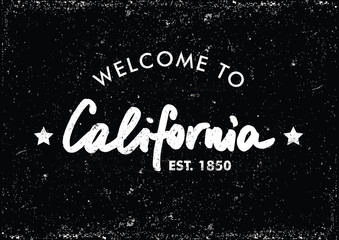 Welcome to California Vector Template