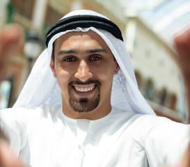 Arabian Male Taking Selfie