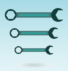Wrench icon design
