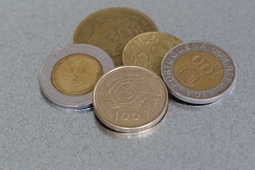 Coins of former european currencies