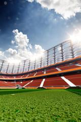 Stadium Soccer in day light 3d render