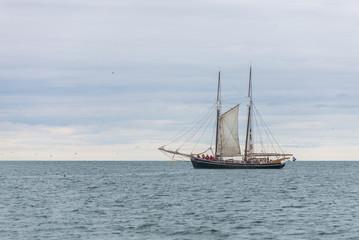 Boat on open sea.