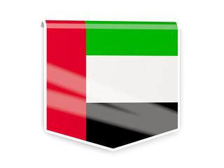 Flag label of united arab emirates