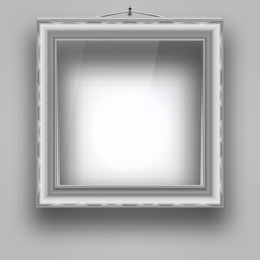 Empty frame on the wall for a picture or photo.