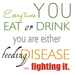 Eat And Drink Nutrition Slogan Quote