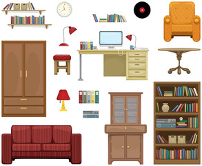 Detailed furniture set
