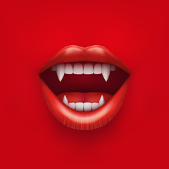 Background of vampire mouth with open lips.