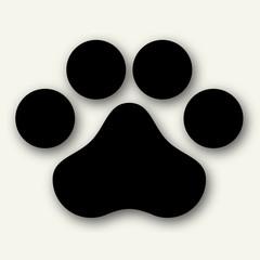 Vector illustration of animal paw